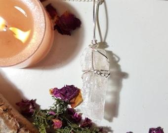 Raw Petalite necklace