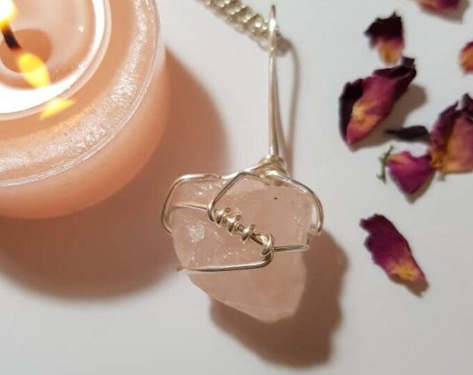 Rose Quartz necklace - Rose Quartz - Self love gift - Crystal necklace - Crystals for comfort