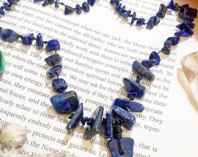 Long Beaded Lapis Lazuli necklace