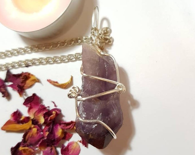 Lemurian Auralite Necklace - Auralite 23 - Auralite 23 necklace - Crystal necklace - Red tipped