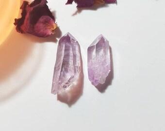 Set of two Vera Cruz Amethyst - Vera Cruz Amethyst - Rare Crystals