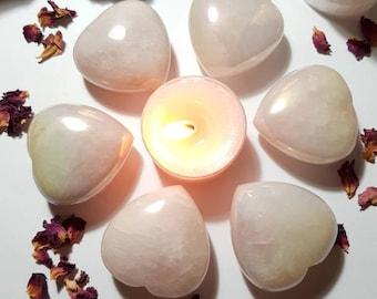 Rose Quartz Aura heart - Self love - Rose Quartz - Aura Quartz - Comfort - Crystal heart - Up lifts Mood