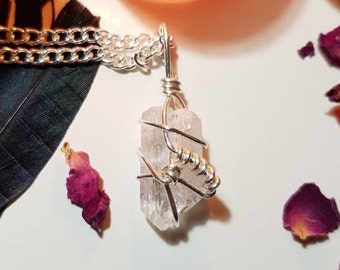 Danburite necklace - Crystal necklace - Danburite - High Energy crystal