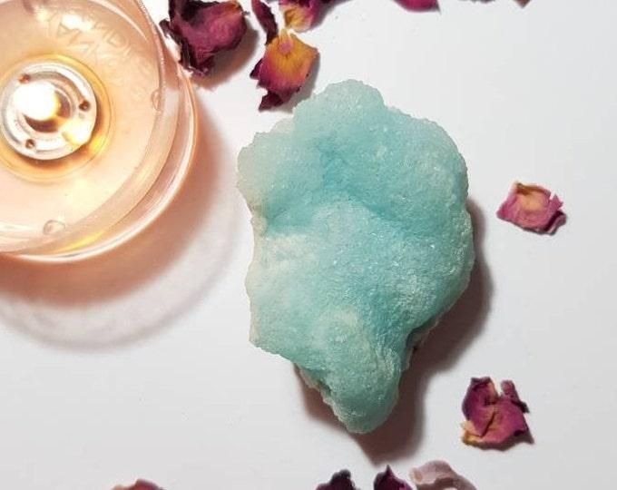 Dreamy Blue Botryoidal Aragonite - Rare crystals - Aragonite cluster - Argonite