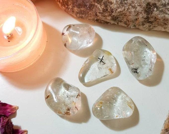 Silver Topaz with Hematite