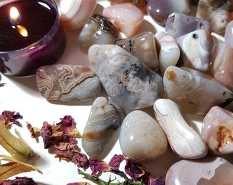 Agate tumble stone