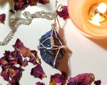 Raw Sodalite necklace