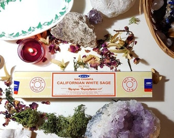 Box of fourteen Satya Californian white sage incense sticks