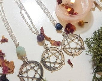 Long Pentacle necklace