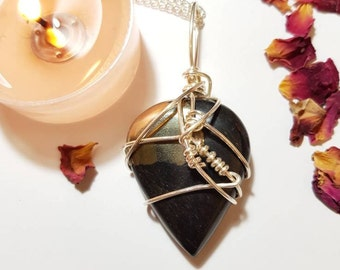 Healers gold necklace - Grounding - Crystal necklace - Healers gold - Pyrite - Magnetite