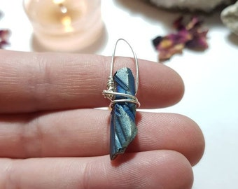 Flame Aura Quartz pendant - Flame Aura Quartz - Crystal Pendant