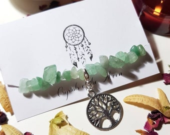 Green Aventurine tree bracelet