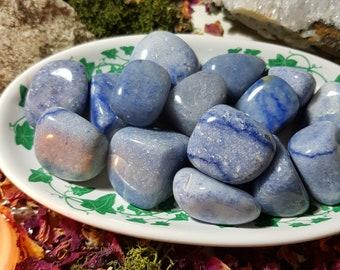 Blue Quartz tumble stone