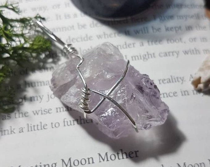 Wire wrapped Rose Amethyst necklace