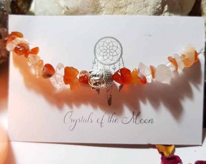 Sacral Chakra Bracelet - Carnelian bracelet - Buddha bracelet - Carnelian - Sacral chakra