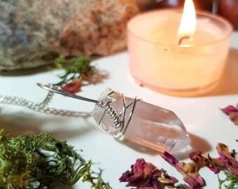 Very pale Vera Cruz Amethyst necklace