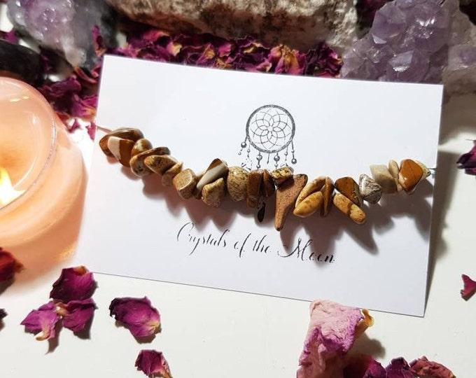 Picture Jasper bracelet - Picture Jasper - Crystal bracelet - Happiness - Protection