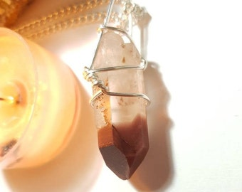 Lithium Quartz necklace - Lithium Quartz from Minas Gerais Brazil - Calming crystals - Crystal necklace