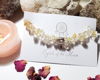 Solar Plexus Chakra Bracelet - Citrine bracelet - Buddha bracelet - Citrine - Solar Plexus chakra
