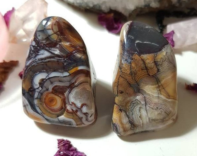 Large Crazy Agate set of two
