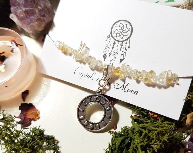 Moon phase Citrine Chip bracelet