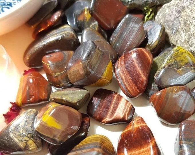 Red Tiger Iron tumble stone