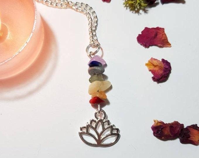 Chakra lotus necklace - Yogi necklace - Bohemian Jewelry