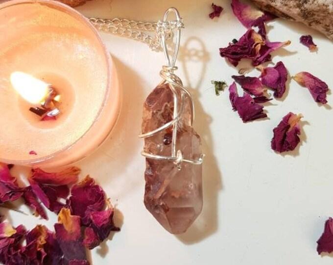 Lithium Quartz necklace - Lithium Quartz from Minas Gerais Brazil - Calming crystals - Crystal necklace