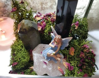 Fairy and crystal Garden - Crystal glass box - Crystal home ware - Crystal gift
