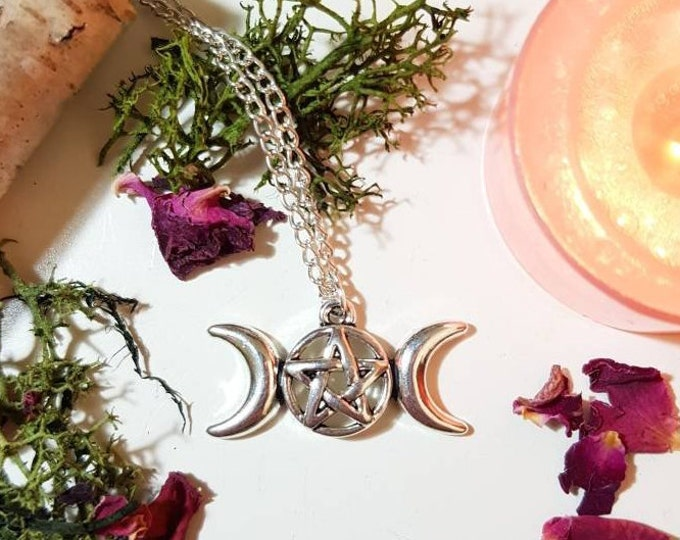 Pentacle silver necklace