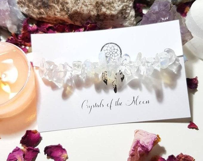 Opalite bracelet - Opalite - Crystal bracelet - Chakra - Calm