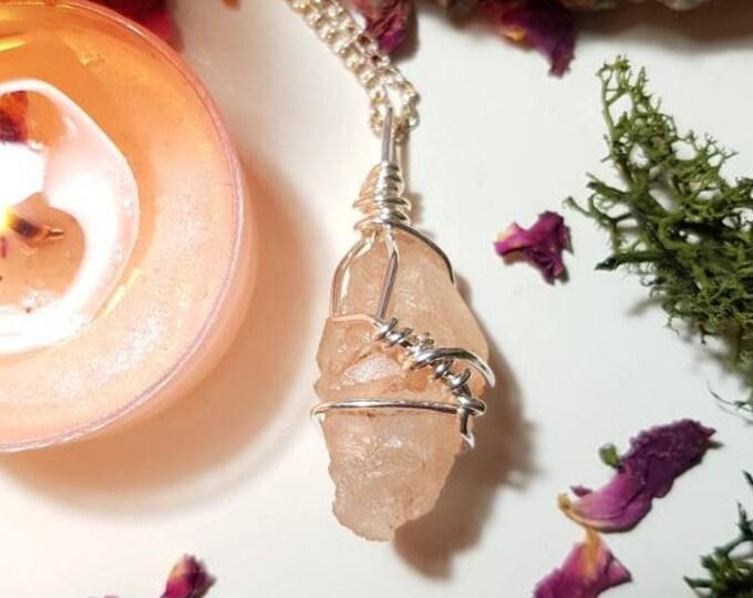 Pink Nirvana Quartz necklace