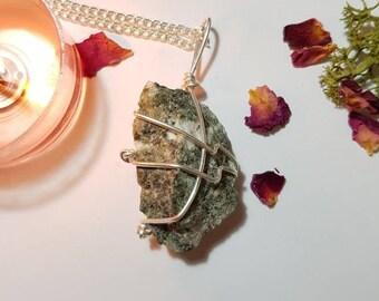 Preseli Bluestone necklace - Stonehenge stone - Earth connection