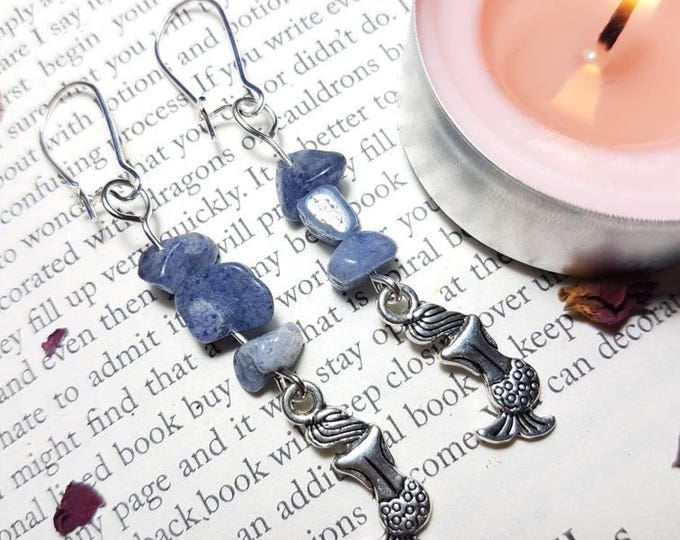 Mermaid Blue Quartz Earrings
