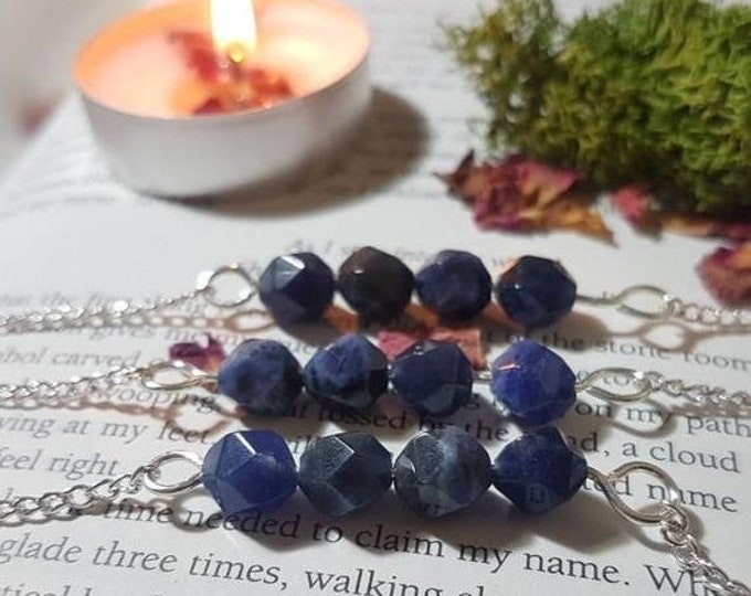 Sodalite beaded necklace