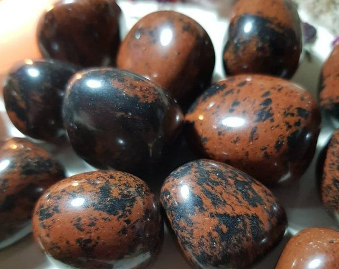 Large Mahogany Obsidian tumble stone