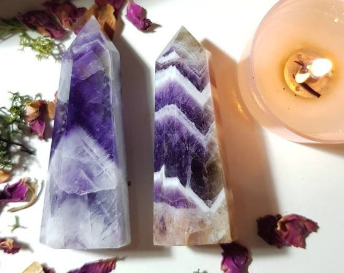 Medium Chevron Amethyst points