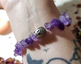 Buddha Amethyst bracelet