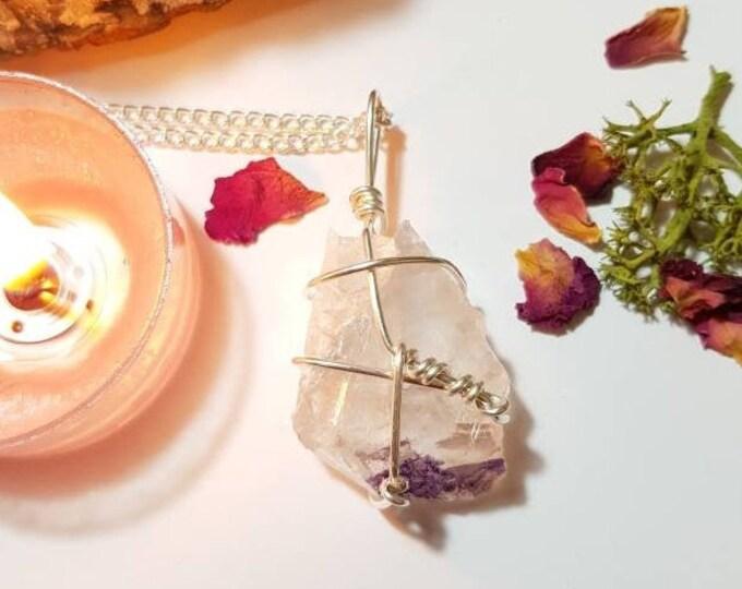 Fluorite necklace - Purple Fluorite - Crystal necklace - Health - Crown Chakra