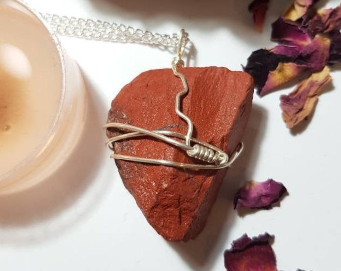 Red Jasper necklace - Red Jasper - Crystal necklace - Earthly