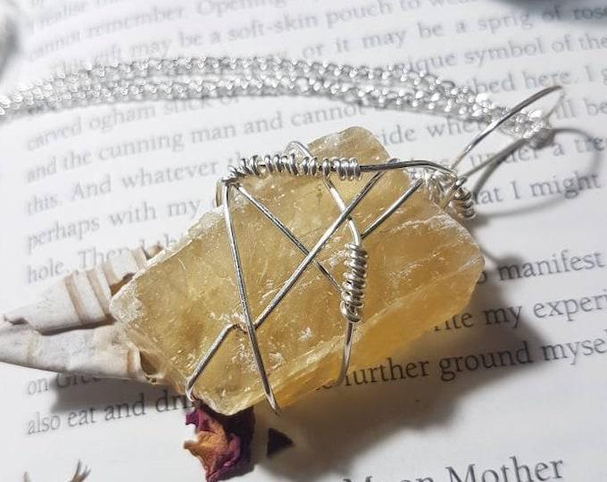 Optical Golden Calcite necklace