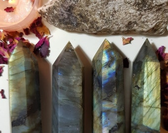 Large Labradorite tower