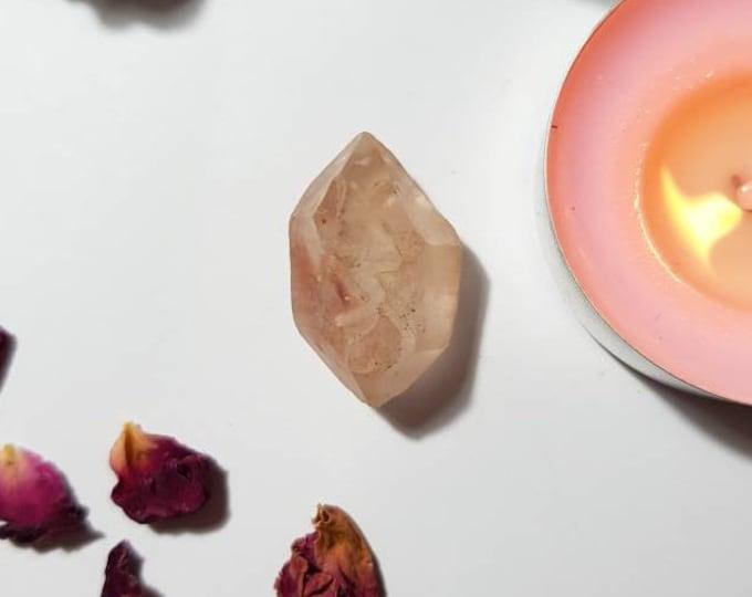 Double terminated Chinese Fire Quartz - Heart Chakra - Herkimer shaped - Fire Quartz - Red Quartz - Rare crystals