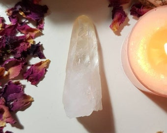 Lemurian Quartz with pale golden tip - Lemurian - Lemuria - Rare crystals