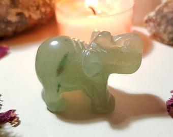Green Aventurine elephant