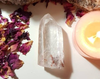 Lemurian Quartz with Lepidocrocite and Hematite - Lemurian seed - Rare crystals