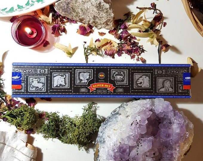 Box of fourteen Satya Super Hit incense sticks