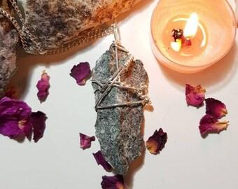 Large Preseli Bluestone necklace - Stonehenge stone - Preseli Bluestone