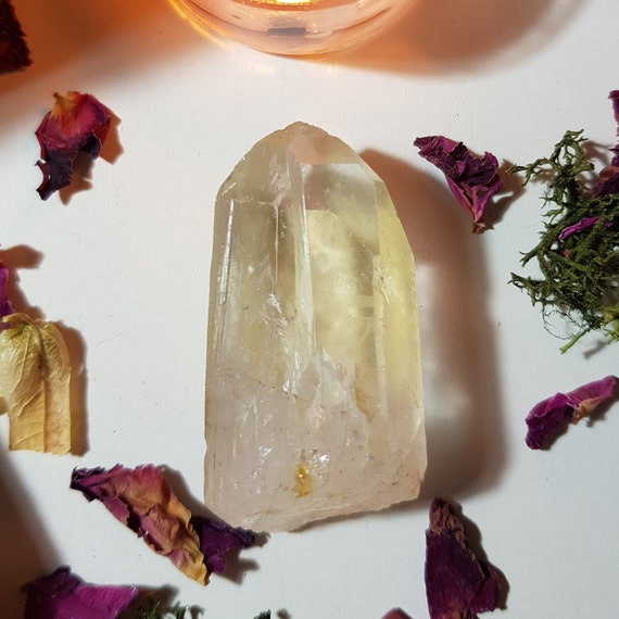 Pale Golden healer Quartz point