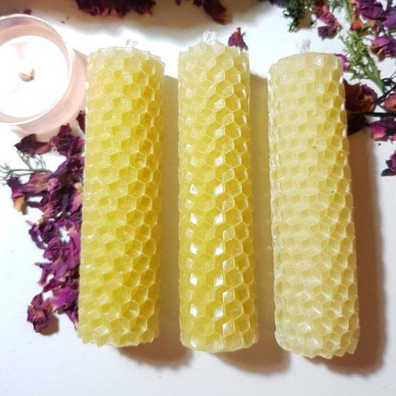 Handmade 100% beeswax spellcandle